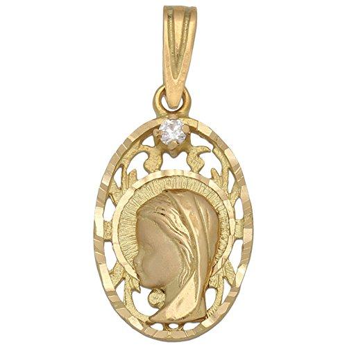 Medalla en Oro 18 KL. Virgen Niña 13 x 21 Mm Regalar a una niña Que va a Tomar su Primera Comunión, será un Recuerdo para Siempre