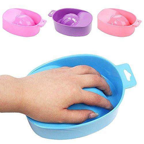 Gemini_mall® Nail SPA Bol résistant à l'acétone pour faire tremper les ongles dans l'eau chaude - Couleur aléatoire (style 1)