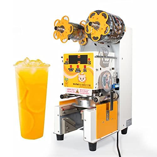 ZLH Máquina Comercial Eléctrica Comercial Completamente Automática Máquina De Sellado De Té De Leche Taza De Taza De Taza De Taza para La Taza De Papel PP Taza