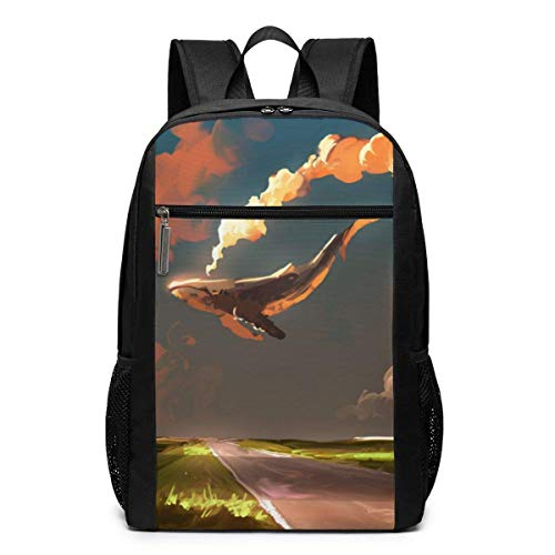 Download Cloud Sky Whale Backpack Suitable for School and Outdoor 17 Inch