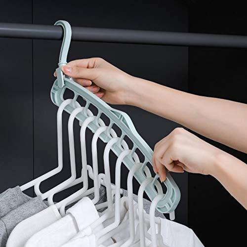 TYOLOMZ Multifunktionale Kleiderbügel mit 9 Löchern, 360 Grad drehbar, Aufbewahrung Trockenständer für Haushalt,...