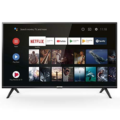 Téléviseur LED Full HD 100 cm TCL 40ES563 - TV LED Full HD 40 pouces - TV connecté / Smart TV - Netflix - Android TV - Tuner TNT terrestre / satellite - Prise casque - Son 2 x 8 W