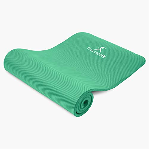"""ProsourceFit Extra Thick Yoga and Pilates Mat 1/2"""" - Green"""