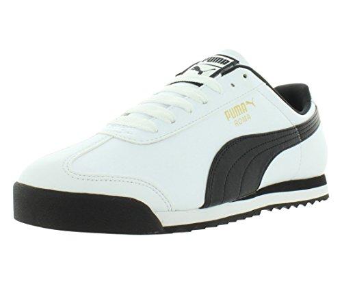 Puma 895540 Roma - Bañador para Hombre, Talla 37,5, Color Blanco y Gris, Color, Talla 42 EU