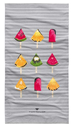 Tom Tailor Strandtuch Fruit Style, Papaya, 85 x 160 cm, Duschtuch