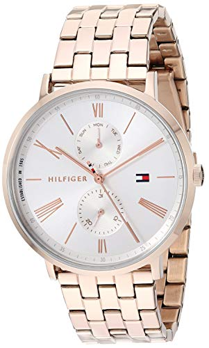 Tommy Hilfiger Women's Quartz Watch with Stainless Steel Strap, Carnation, 19 (Model: 1782070)