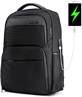 Business Laptop Backpack Water Resistant Anti-Theft College Backpack with USB Charging Port and Lock 15.6 inch Computer Backpacks for Women Men, Casual Hiking Travel Daypack