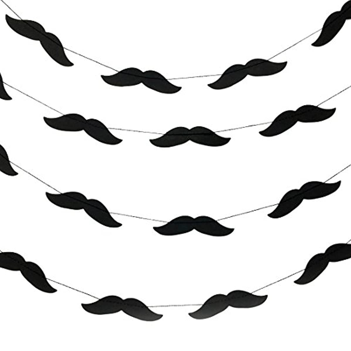 Bobee Mustache Party Decorations Paper Garland Streamers, one Strand for 14 feet, 48 Mustaches per Strand