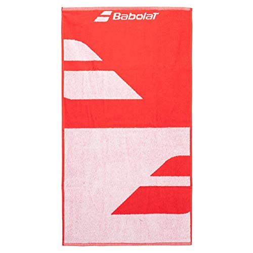 Babolat Medium Towel Toalla, Unisex Adulto, White/Fiesta Red, Talla Única