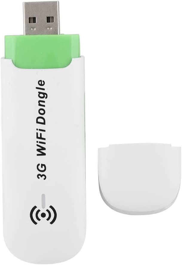 Yoidesu 3G WiFi Modem,3G USB Mobile Hotspot,WiFi Dongle,Support USIM/SIM,T-Flash Memory up to 32G,Portable Mini USB WiFi Hotspot,Router up to 9 Users Connect,Support WCDMA(White)