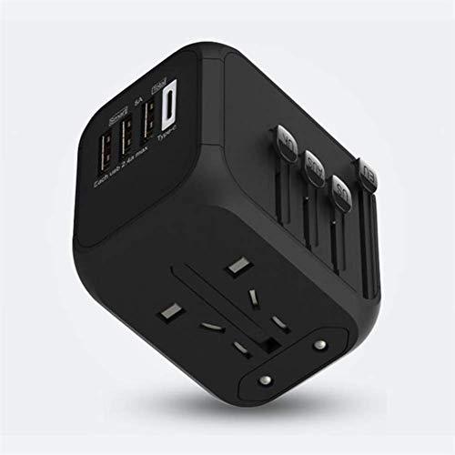 N / B Black, International Travel Universal Power Adapter Socket Converter, protección...