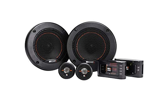 MB Quart RS1-213 Reference 2-Way Component Speaker System (Black, Pair) – 5.25 Inch Component Speaker System, 220 Watt, Car Audio, 4 OHMS (Grills Included)