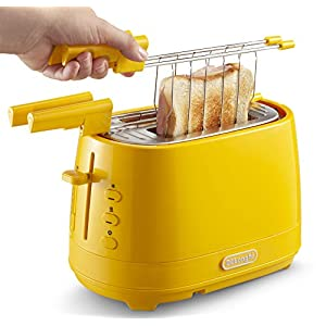 Dè Longhi CTLAP2203 Grille-pain avec pinces 550 W jaune