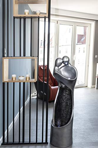 Köhko Springbrunnen Liebe mit LED-Beleuchtung Wasserspiele für Outdoor + Indoor Gartenbrunnen Zimmerbrunnen 16003