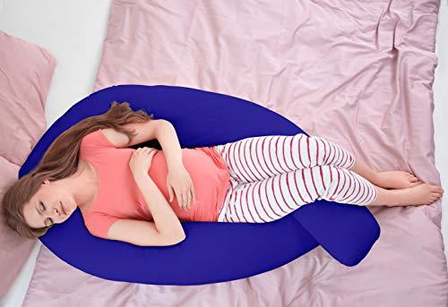 Hometex Almohada de Maternidad, 50% algodón, Azul, Pillow & Case