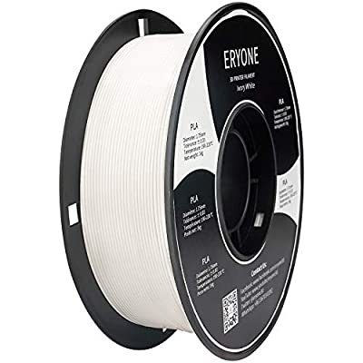 ERYONE PLA Filament for 3D Printer, Filament PLA 1.75mm, No-Tangling,Dimensional Accuracy +/-0.03mm, 1kg(2.2lbs)/Spool, Ivory White