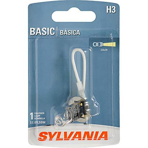 SYLVANIA H3 Basic Halogen Fog Bulb, (Contains 1 Bulb)