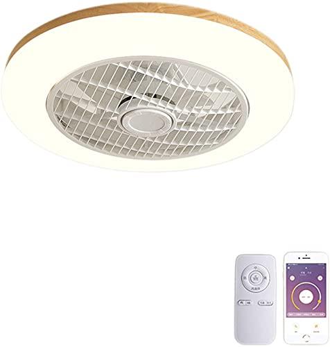 WEM Novedad Candelabro decorativo, Ventilador de techo LED regulable con iluminación Ventilador de techo moderno y silencioso Luz de techo Ventilador de control remoto Lámpara de techo Velocidad del