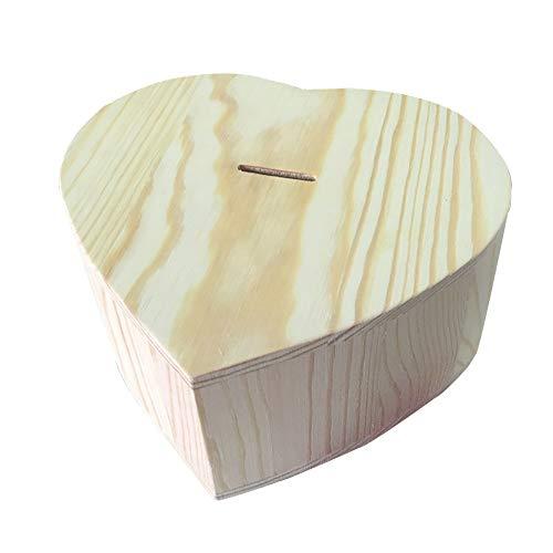 ZAKRLYB Madera sólida Piggy Bank Lover Gifts Natural Hecho a mano Cambio de madera Moneda Banco de almacenamiento Niño y niña Recuerdos Sala de estar Estudio Sala de estudio Decoración del hogar Decor