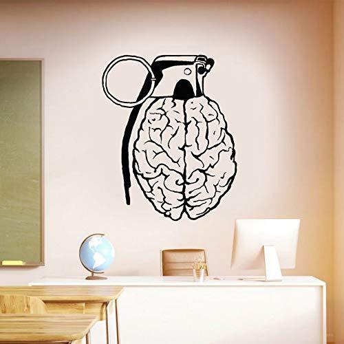 Idea creativa granada cerebral mente anatomía pegatinas de pared decoración del hogar para niños dormitorio aula decoración calcomanía extraíble A3 42x52cm