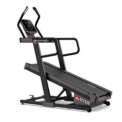 AsVIVA Laufband T23 Pro Climb Treadmill, sparsamer und leiser 7PS Motor, 40% Steigung elektronisch im Climb-Modus mit Dämpfungskontrolle, bis zu 18km/h, MP3/AUX-Port, USB, Soundsystem