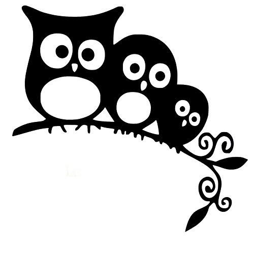 ZQZL Car Stickers 12.8CM * 11.7CM funny owl family vinyl on the branch