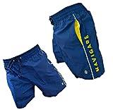 Navigare Boxer Mare Costume Uomo Pantaloncini da Bagno Swim Short, Taglie calibrate, Taglie comode, Taglie Maxi (Blu 098370, 3XL)