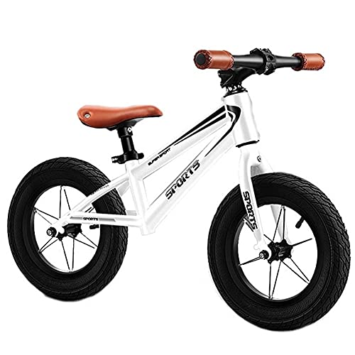 Bicicleta Sin Pedales Grande Bicicleta de equilibrio para niños grandes 7-9 años Niños niñas - Exterior Deporte Bicicleta de entrenamiento con neumáticos inflados de 16 pulgadas, Estructura de acero r
