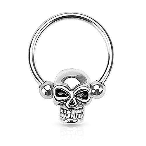 Dynamique Skull Bead 316L Surgical Steel Captive Bead Ring