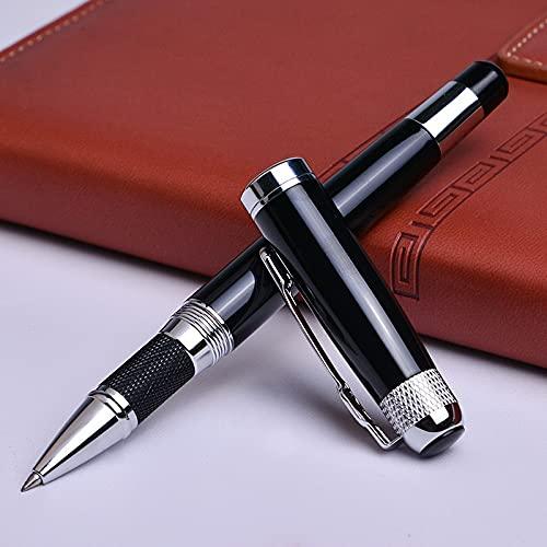 PPuujia Bolígrafo con relleno, material de oficina escolar, bolígrafo, regalos de negocios (color: bolígrafo de punta redonda, color de tinta: azul)