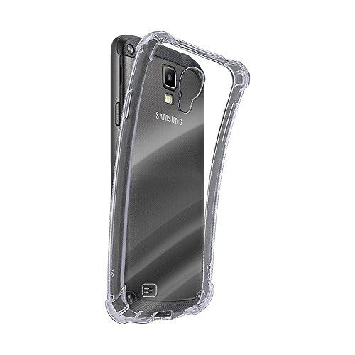 REY Funda Anti-Shock Gel Transparente para Samsung Galaxy S4, Ultra Fina 0,33mm, Esquinas Reforzadas, Silicona TPU de Alta Resistencia y Flexibilidad
