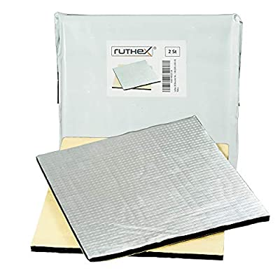 ruthex 3D printer heated bed insulation 220x220 (2 pieces) self-adhesive heat protection mat - reduced heating time - reduced power consumption - for e.g. Anycubic i3 Mega - Creality Ender 3 - Anet A8