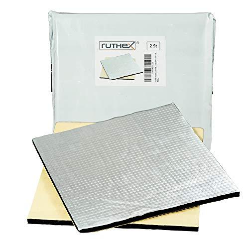 ruthex 3D-Drucker Heizbett Isolierung 220x220 (2 Stück) selbstklebende Wärmeschutzmatte - reduzierte Aufheizzeit und Stromverbrauch - für z.B. Anycubic i3 Mega - Creality Ender 3 - Anet A8