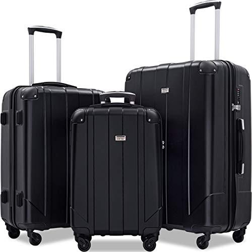 Merax Luggage Sets 3 Piece Lightweight P.E.T Luggage 20inch 24inch 28inch