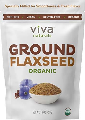 Viva Naturals - The BEST Organic Ground Flax Seed, 15 oz - Proprietary...