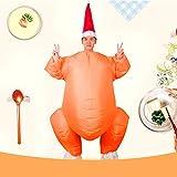 wpOP59NE Turkey Costume Halloween and Thanksgiving Christmas DecorAdults Inflatable Turkey Costume Halloween Thanksgiving Day Cosplay Jumpsuit Yellow