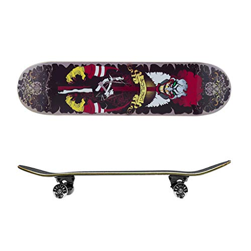 Skateboards met animatiestijl, professionele skateboards, beginners en meisjes, kinderen en volwassenen, 4 wielen, skateboard, dubbele wiel
