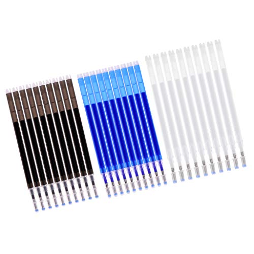 Colcolo 30 Bolígrafos Borrables por Calor, Herramientas de Costura de Marcador de Tela de Desaparición Automática
