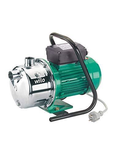 Wilo-Jet WJ 204, selbstansaugende Gartenpumpe zur Wasserversorgung aus Brunnen, Zisternen und Regentonnen, 5000l/h, 4,9 bar, 1000W