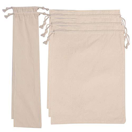 HXMLS 5Park Linen Bread Bags,Reusable Drawstring Bag For Loaf, Homemade Artisan Bread Storage Bag,Linen Bread Bags For Baguette