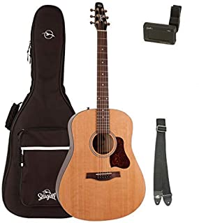 Seagull S6 Original with Seagull Padded Dreadnought Gig Bag, Tuner, and Strap (046386)