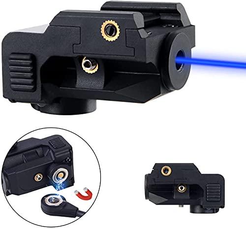 Ohsrsan Blue Laser Sight,Magnetic Rechargeable Blue Beam for Pistol,Picatinny Rail Blue Lazer Sights,Subcompact Blue Laser for Pistol