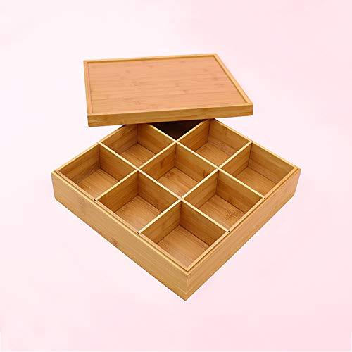 ACCP Plateau de Service apéritif Snack,boîte carrée de Plateau de Fruits secs,pour boîte de Fruits Conteneur de Fruits secs pour la décoration de Mariage de fête à la Maison