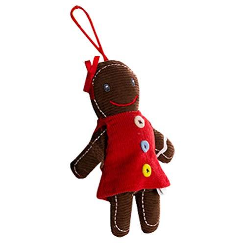 Soul hill Lebkuchen-Mann-Figurine Puppe Ornamente Frau Gingerman Ingwer-Brot-Plätzchen Mann Hängen Weihnachtsbaum Dekoration Yuletide Feiern zcaqtajro (Color : Picture 2)