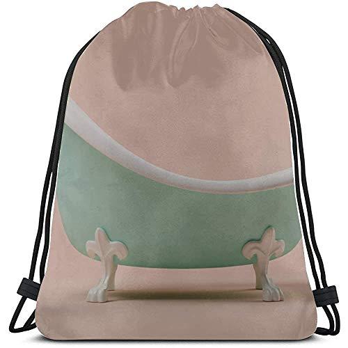 BOUIA Creative Living Home Badkuip keuken trekkoord tassen polyester string rugzak Cooler vrouw trekkoord tas voor fitnessstudio reizen
