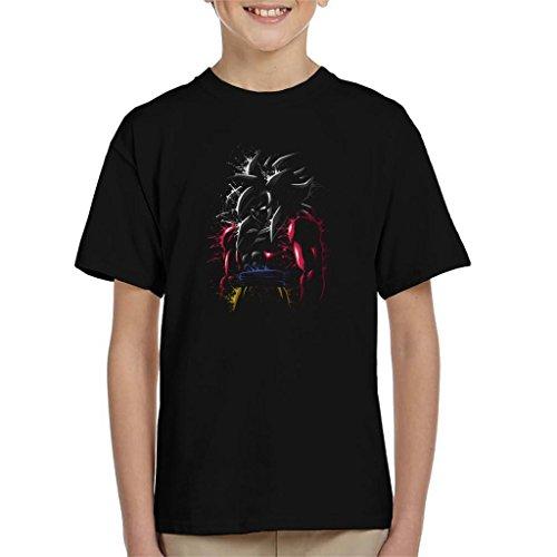Cloud City 7 Dragon Ball Z Goku SSJ 4 Splatter Kid's T-Shirt