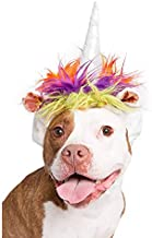 Pet Krewe Cat Unicorn Hat - Unicorn Horn for Cats - Fits Most Cats- Perfect for Halloween, Parties, Photoshoots, Gifts for Cat Lovers (L/XL)