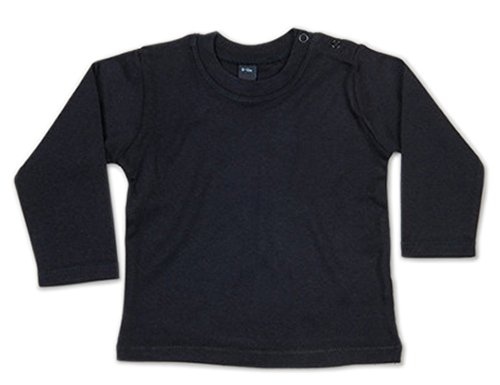 G-graphics Baby Sweatshirt Longsleeve Pullover Pulli Uni Kleinkind (18-24 Monate, schwarz)