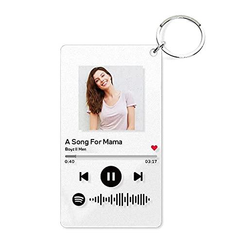 SOUFEEL Personalised Photo Acrylic Song Album Cover, Custom Keychain...
