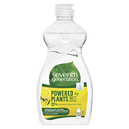 Seventh Generation - Cítrico Lavavajillas a Mano, sin fragancias sintéticas y colorantes - 500 ml